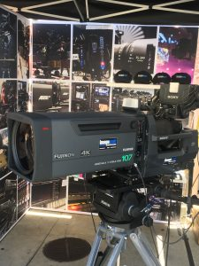 FUJINON 107X LENS AND SONY HDC 4300 CAMERA