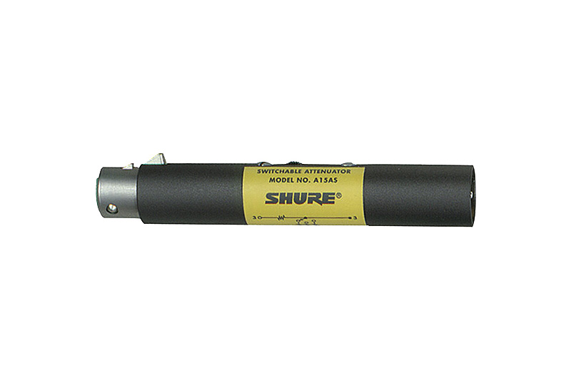 SHURE A15AS IN-LINE ATTENUATOR
