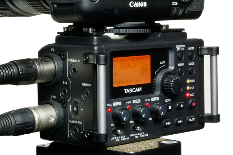 TASCAM DR-60D 4-CHANNEL RECORDER